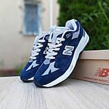 🔥 Мужские кроссовки повседневные New Balance 991 Синие замша (нью беланс), фото 3