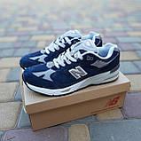🔥 Мужские кроссовки повседневные New Balance 991 Синие замша (нью беланс), фото 4