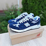 🔥 Мужские кроссовки повседневные New Balance 991 Синие замша (нью беланс), фото 5