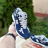 🔥 Мужские кроссовки повседневные New Balance 991 Синие замша (нью беланс), фото 6