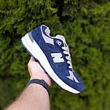 🔥 Мужские кроссовки повседневные New Balance 991 Синие замша (нью беланс), фото 7