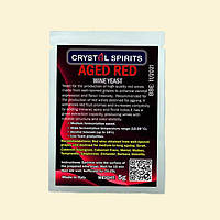 ДРОЖЖИ ДЛЯ ВЫДЕРЖАННЫХ КРАСНЫХ ВИН CRYSTAL SPIRITS AGED RED WINE YEAST срок годности до 2022г