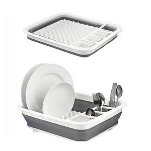 Сушилка-поддон для посуды складная силиконовая