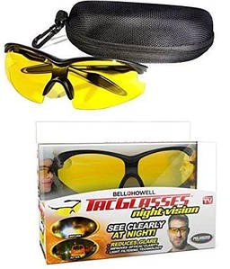 Антибликовые очки для ночного вождения TacGlasses