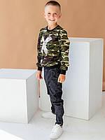 Стильный детский свитшот из новой коллекции из высококачественной двунитки с принтом милитари