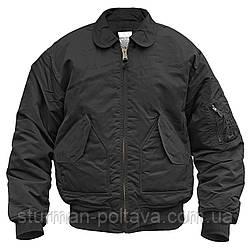 Чоловіча куртка - демисизоная CWU-45 SWAT B15 Mil-Tec колір чорний Німеччина