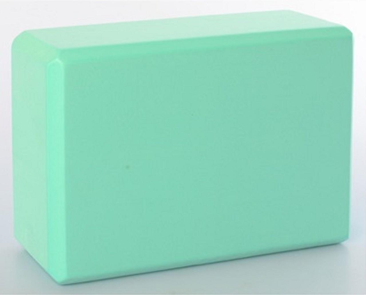 Блок кирпич кубик для йоги мятный MS 0858-3 m