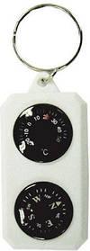 Брелок компас с градусником сувенирный Sol SLA-003 White/Black