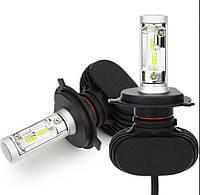 LED лампы H4 6000K 4000Lm. Светодиодные лампы. 12-24V \ SVS S1, H/L. Тип охлаждения - радиатор.Гарантия. Корея