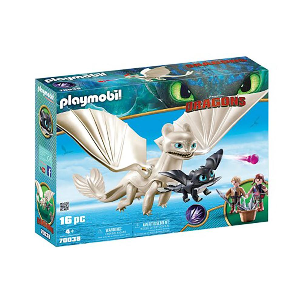 """Игровой набор """"Дневная фурия с детьми"""" Playmobil Light Fury with Baby Dragon and Children (4008789700384)"""