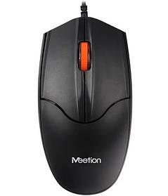 Мышь проводная оптическая Meetion MT-A1 Black