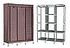 Складаний каркасний тканинний шафа Storage Wardrobe 88130, шафа на три секції 130*45*175, фото 5