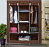 Складаний каркасний тканинний шафа Storage Wardrobe 88130, шафа на три секції 130*45*175, фото 7