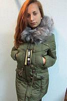 Куртка женская Assener 208 (c-8) зелёная код 728а
