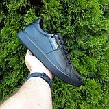 🔥 Кроссовки женские повседневные Calvin Klein Чёрные кожаные (кельвин кляйн), фото 3