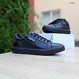 🔥 Кроссовки женские повседневные Calvin Klein Чёрные кожаные (кельвин кляйн), фото 4
