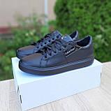 🔥 Кроссовки женские повседневные Calvin Klein Чёрные кожаные (кельвин кляйн), фото 5