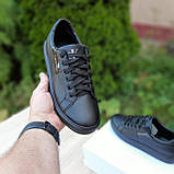 🔥 Кроссовки женские повседневные Calvin Klein Чёрные кожаные (кельвин кляйн), фото 9