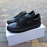 🔥 Кроссовки женские повседневные Calvin Klein Чёрные кожаные (кельвин кляйн), фото 7