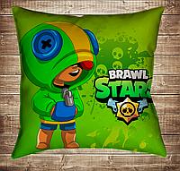 Подушка 3D - Бравл Старс Leon Фейс Brawl Stars, фото 1