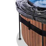 Бассейн с куполом EXIT дерево 450х122 см (песочный фильтр), фото 2