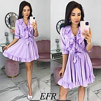 Женское стильное платье с 42 по 48 рр из лёгкого шёлка