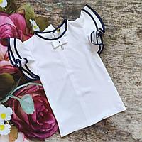 """Школьная  блуза с коротким рукавом  для девочки """"Диана"""" 116р"""