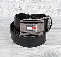 Кожаный ремень автомат мужской TH 8006-303 черный, коричневый, темно-синий, фото 1
