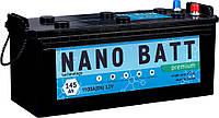 Аккумулятор NANO BATT  Premium - 145 (евробанка) (1100 пуск)2020!!!