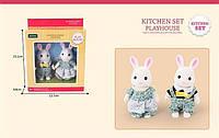 Семья кроликов,фигурки животных,фигурки кролики Sylvanian Families (аналог),семейка кроликов