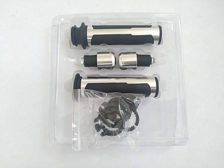 Ручки руля универсальные (серебро) HP6 BARRACUQA, фото 2