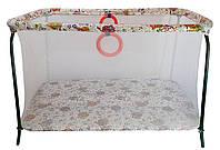 Манеж детский игровой KinderBox полу люкс Сова с мелкой сеткой (kmp1)
