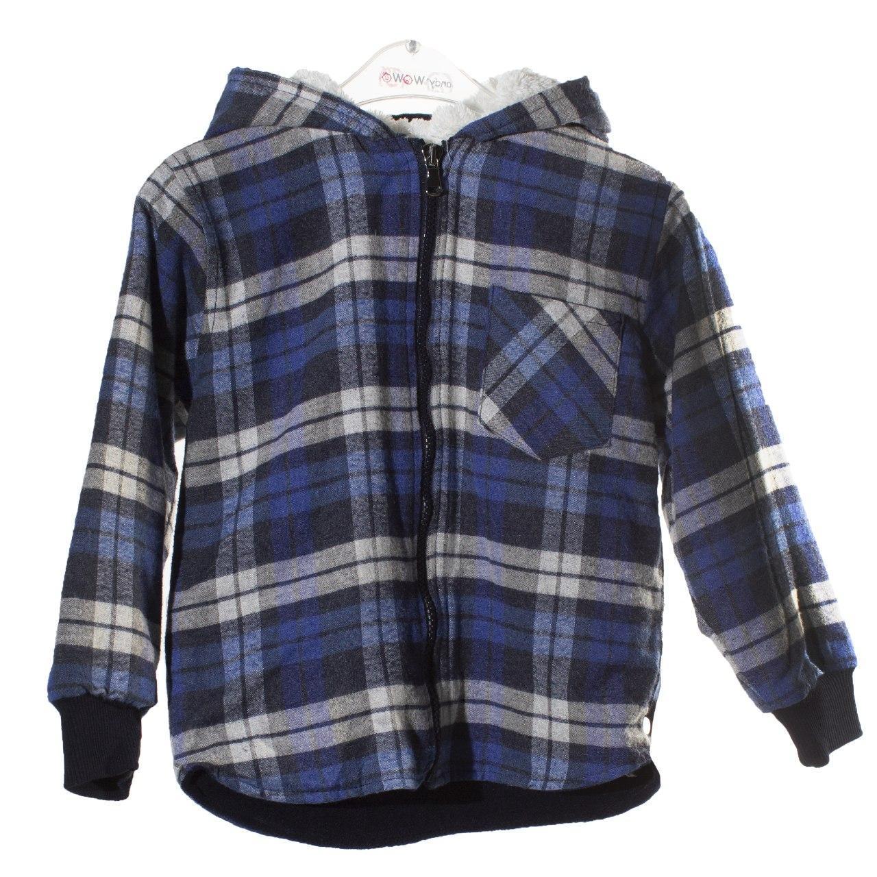 Рубашка с капюшоном на флисе для мальчика, размер 5/6 лет