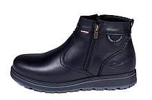 Чоловічі шкіряні зимові черевики Kristan City Traffic Black