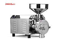 Електрична млин Akita jp AKDMJP - 40 (3000 ватт ) борошномельна жорновий для борошна із зерна, спецій, кави, фото 1
