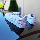 🔥 Кросівки жіночі повсякденні Nike Air Force 1 Shadow білі з сірими з пудрою (найк аір форс 1), фото 4