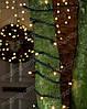 Гирлянда уличная нить с МЕРЦАНИЕМ теплый белый на черном проводе 10м на дерево.