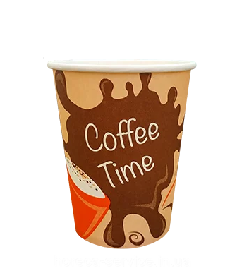 Стакан бумажный однослойный Coffee Time