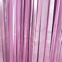 Штора из фольги сатин розовый, 1*2 м