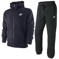 Спортивный костюм Найк, мужской костюм Nike черный, трикотажный