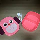 Ланч-Бокс детский для обедов Сова на 2 отсека, фото 2