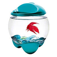 Аквариум для рыбки петушка Tetra Betta Bubble Бирюза