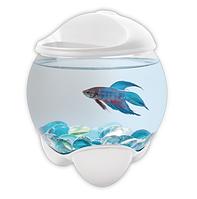 Аквариум для рыбки петушка Tetra Betta Bubble Белый