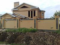 Как построить забор из кирпича