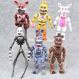 Набор разборных фигурок Пять ночей с Фредди, 6в1, 14 см - Five Nights at Freddy`s