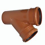 Тройник ПВХ 160х45 для канализации, фото 4