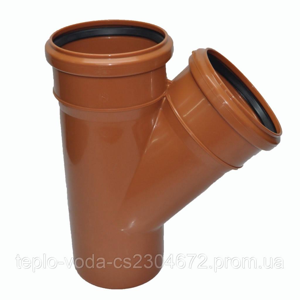 Тройник ПВХ 160х45 для канализации