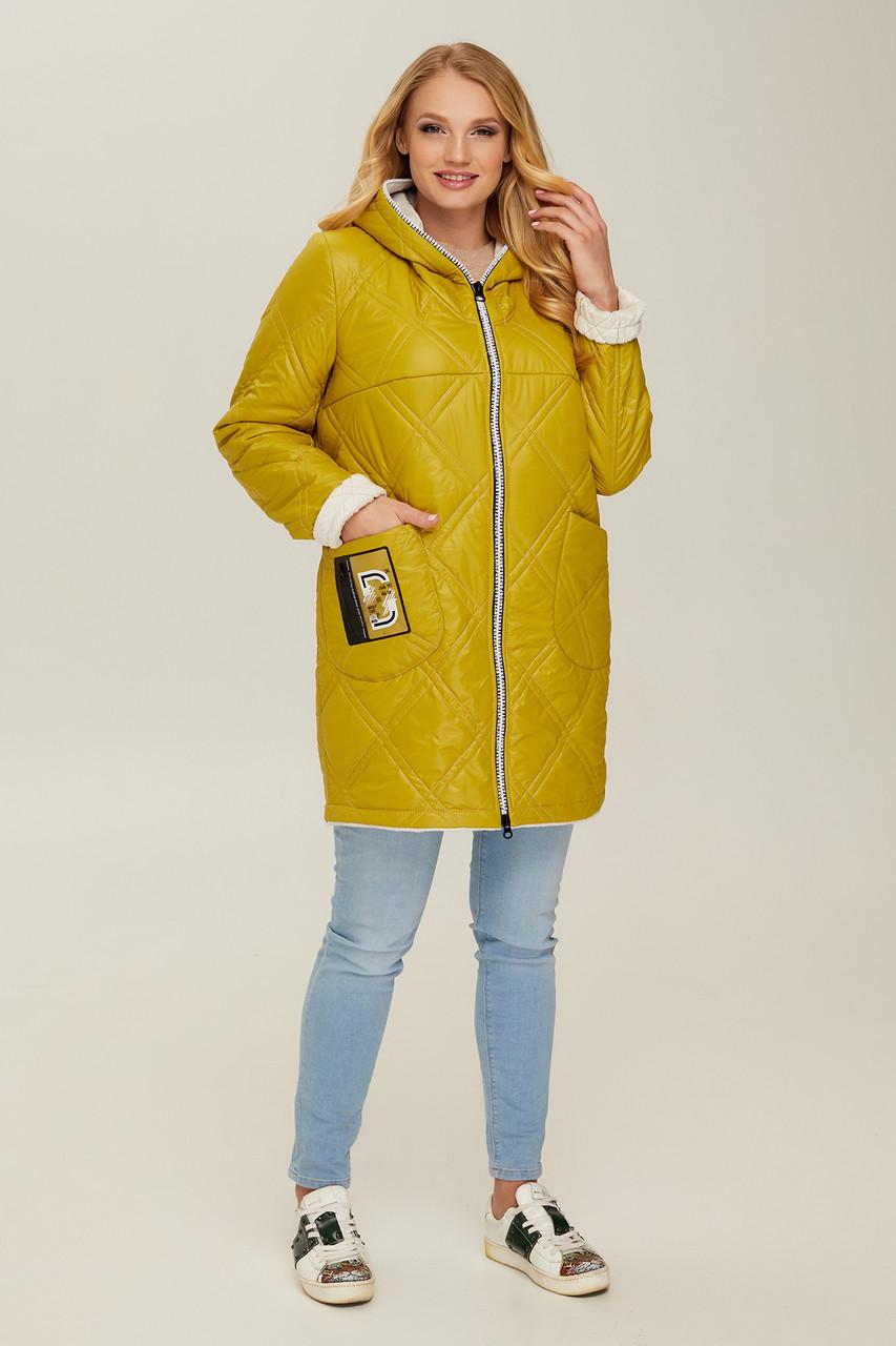 Куртка  демисезонная женская В 67 в размерах 48-56