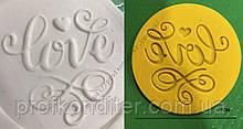 """ЕКСКЛЮЗИВ! Пластиковий штамп для нанесення напису на мастику """"LOVE №1"""""""