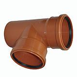 Тройник ПВХ 200х90 для канализации, фото 3